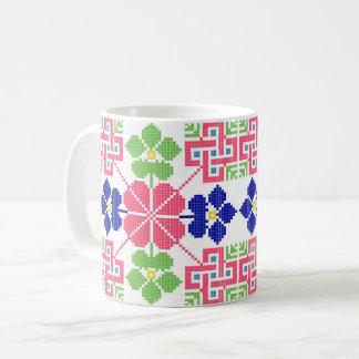 Slowakeivolksmuster-Motiv traditionelles Kaffeetasse