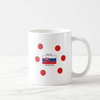 Slowakische Sprache und Slowakei-Flaggen-Entwurf Kaffeetasse