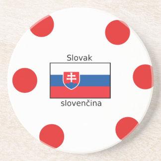 Slowakische Sprache und Slowakei-Flaggen-Entwurf Untersetzer