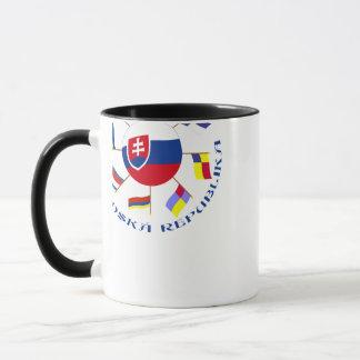 Slowakischer FlaggenPinwheel Tasse