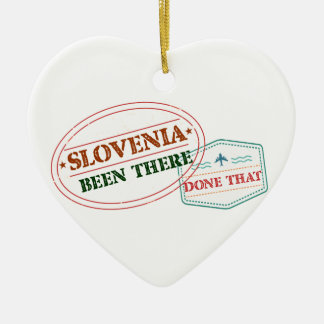 Slowenien dort getan dem keramik Herz-Ornament