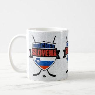 Slowenien-Eis-Hockey-Schild-Tasse