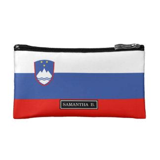 Slowenien-Flagge Kosmetiktasche