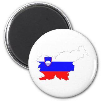 Slowenien-Landflaggen-Kartenform-Silhouettesymbol Runder Magnet 5,1 Cm