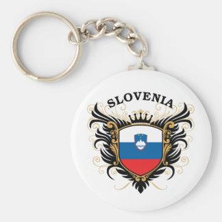 Slowenien Standard Runder Schlüsselanhänger