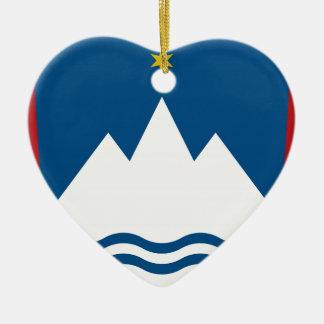 Slowenien-Wappen Keramik Herz-Ornament