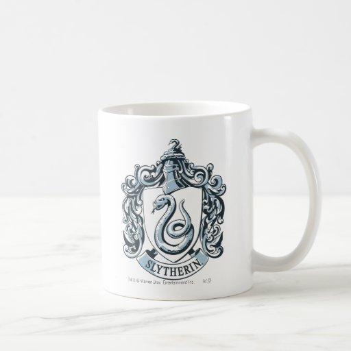 Slytherin Wappen-Blau Kaffee Haferl