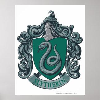Slytherin Wappen-Grün Poster