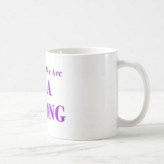 SMA stark - lila Kaffeetasse