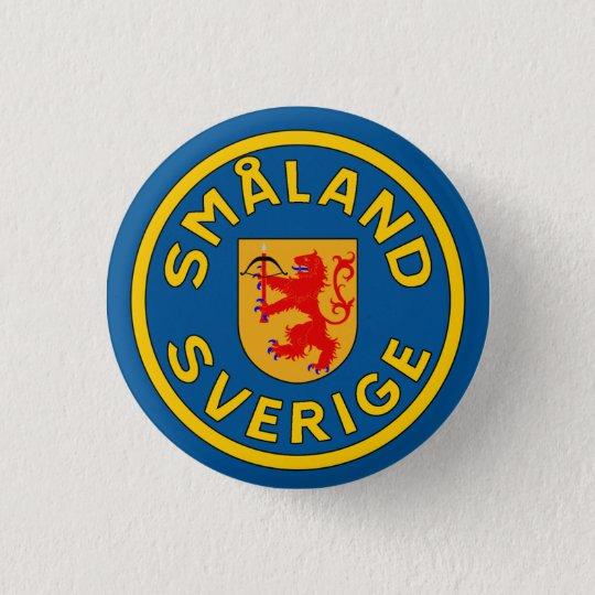 Småland (Sverige) Runder Button 3,2 Cm