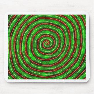 Smaragd-Spirale Mousepad