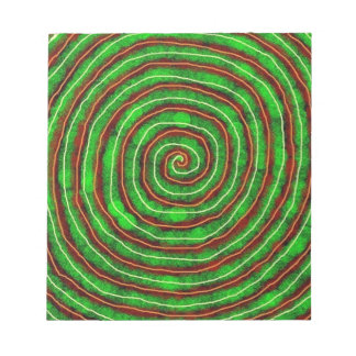 Smaragd-Spirale Notizblock