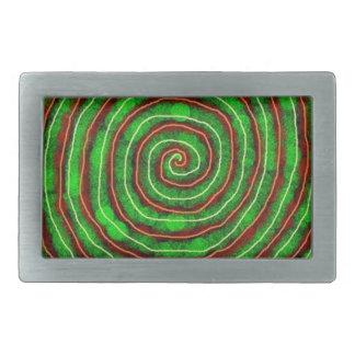 Smaragd-Spirale Rechteckige Gürtelschnalle