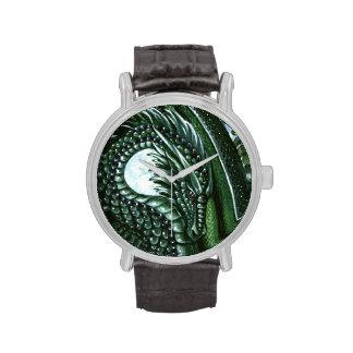 Smaragddrache-Armbanduhr
