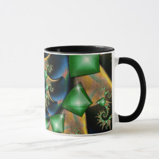 Smaragde auf Satin Tasse