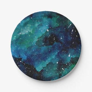 Smaragdgalaxie Pappteller