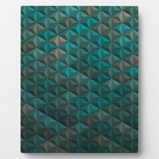 Smaragdgrün-aquamarines geometrisches Muster Fotoplatte