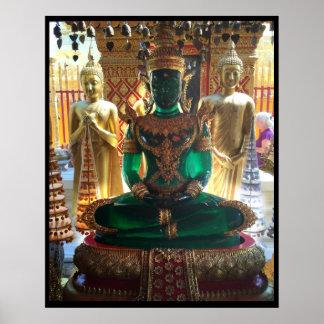 Smaragdgrün Buddha Doi Suthep Poster