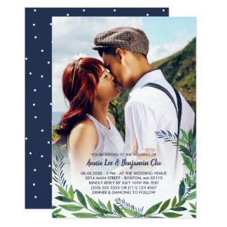 Smaragdgrün-Foto-Hochzeit Karte