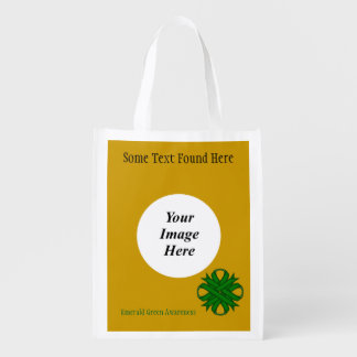 Smaragdgrün-Klee-Band-Schablone Wiederverwendbare Einkaufstasche