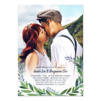 Smaragdgrün-kundenspezifische Foto-Hochzeit Magnetische Karte