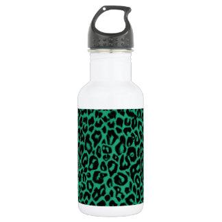 Smaragdgrün-Leopard-Muster-Wohngestaltung Edelstahlflasche