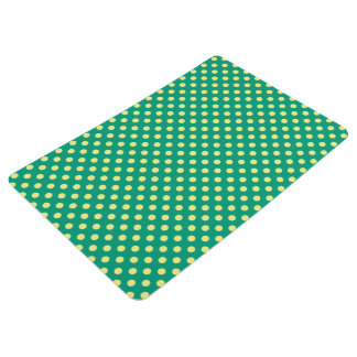 Smaragdgrün mit gelben Tupfen durch STaylor Bodenmatte