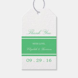 Smaragdgrün-moderne Hochzeit Geschenkanhänger