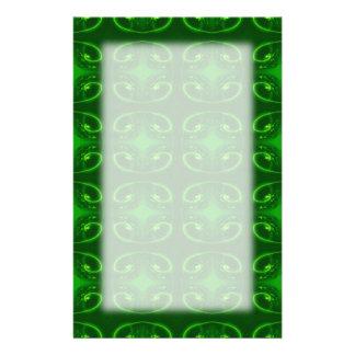 Smaragdgrün-Muster Bedrucktes Büropapier