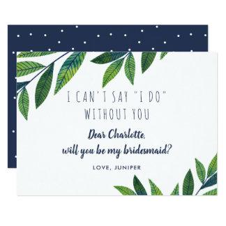 Smaragdgrün - seien Sie meine Brautjungfer Karte