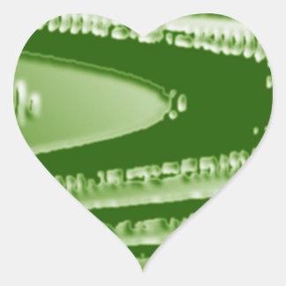 Smaragdgrün-Show - Wellen, Panorama des Schein-n Herz-Aufkleber