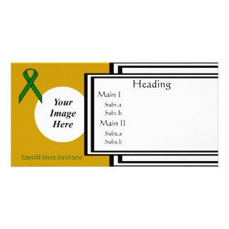 Smaragdgrün-Standardband-Schablone Karte