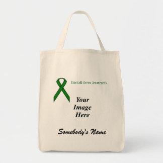 Smaragdgrün-Standardband-Schablone Tragetasche