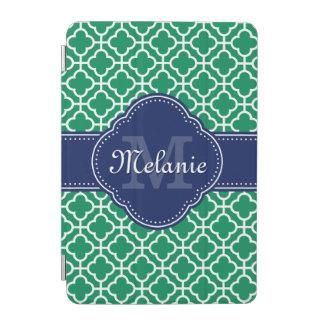 Smaragdgrün-weißes marokkanisches iPad mini hülle