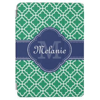Smaragdgrün-weißes marokkanisches iPad pro hülle