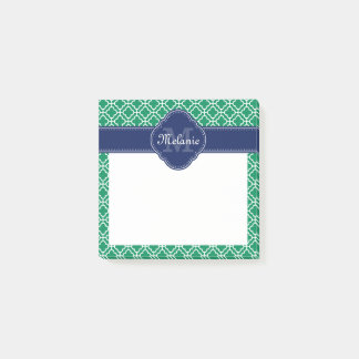 Smaragdgrün-weißes marokkanisches post-it klebezettel