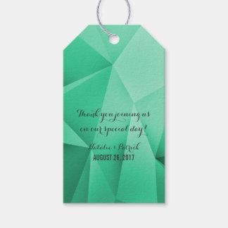 Smaragdjuwel tont Hochzeits-Geschenk-Umbauten Geschenkanhänger