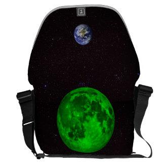 Smaragdmond-und Planeten-Erde Kurier Taschen
