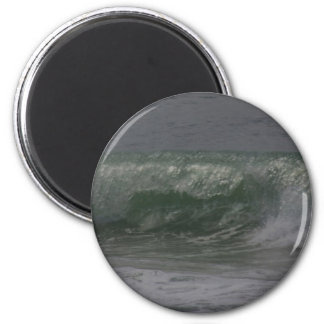 Smaragdoregon-Brandung Runder Magnet 5,7 Cm