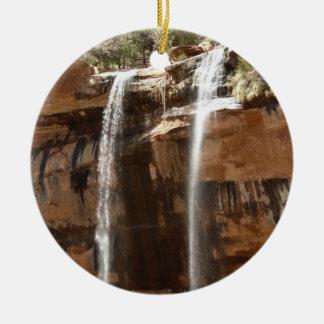 Smaragdpool fällt IV von Zion Nationalpark Utah Rundes Keramik Ornament