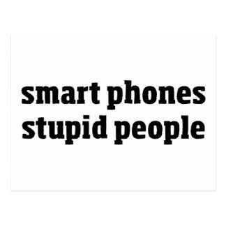 Smart-Telefon-dumme Leute Postkarte
