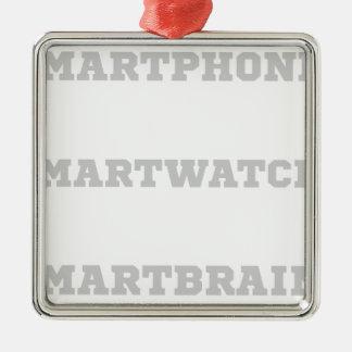 Smartbrain? Silbernes Ornament