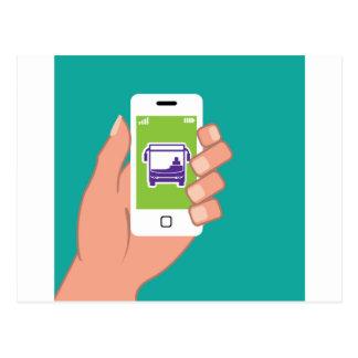 Smartphone-Anwendung Busservice online Postkarte
