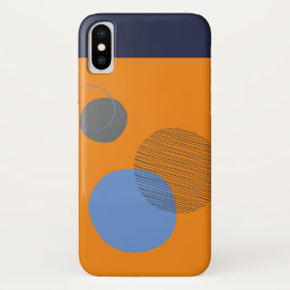 Smartphone-Fall im asymetrischen Kreis iPhone X Hülle