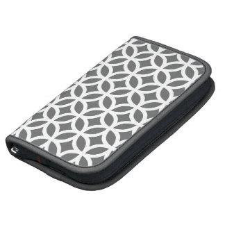 Smartphonefoliofall - graues geometrisches mappe