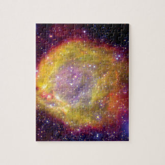 SMC WR7 Doppelstern-Nebelfleck - Hubble Raum-Foto Puzzle
