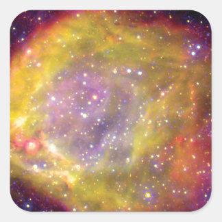 SMC WR7 Doppelstern-Nebelfleck - Hubble Raum-Foto Quadratischer Aufkleber
