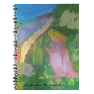 """Smeraldo Galerie """" Dame im Garten """" Notizblock"""