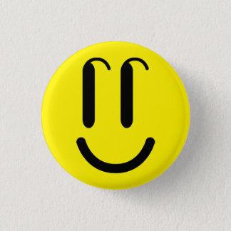 """SMILE"""" Brosche """","""" runder Knopf, Runder Button 3,2 Cm"""