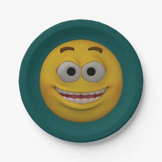 smiley 2 der Art-3D Pappteller